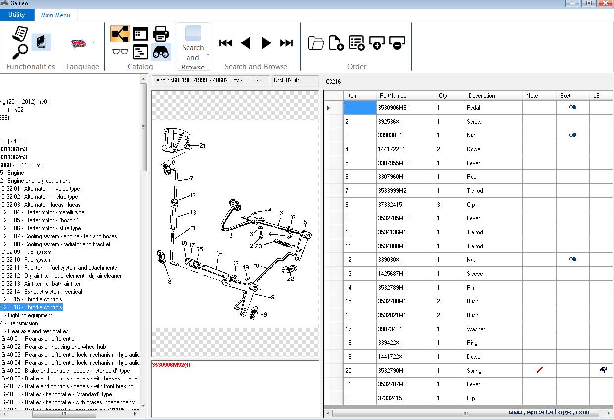Landini EPC Galileo v8.0 Spare Parts Catalog 2015 Download