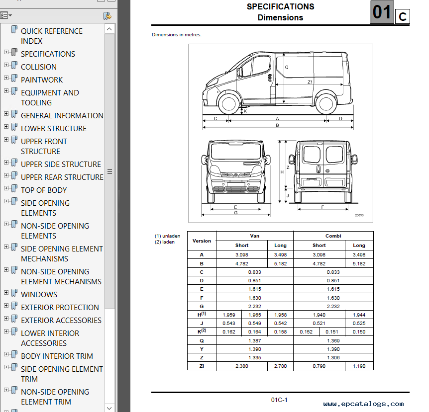 nissan primastar model x83 series 2002 service manual pdf