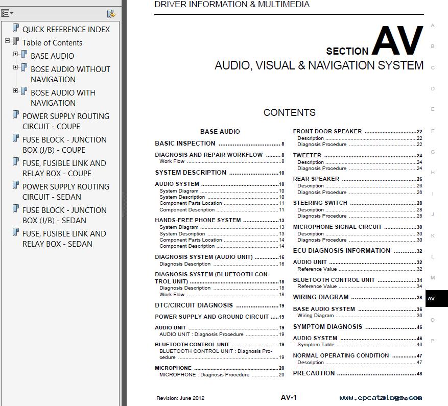 2011 nissan altima service repair manual