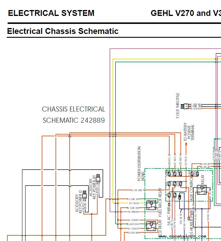 Gehl V270/V330 & Mustang 2700V/3300V Loaders Manual PDF | Gehl Skid Steer Wiring Diagram |  | EPCATALOGS
