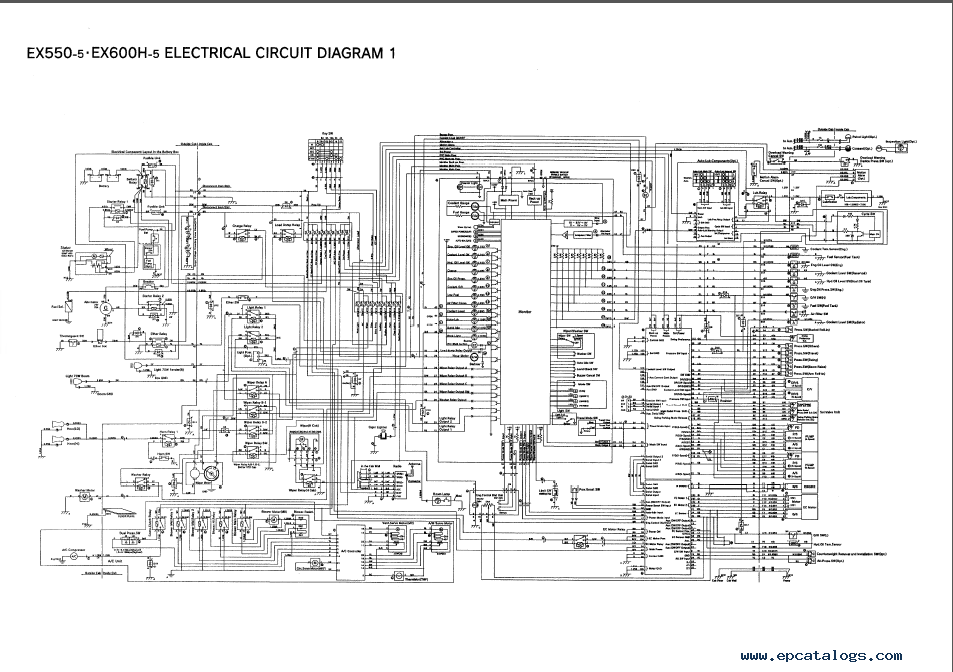Hitachi ex550 5 ex600h 5 excavators technical manual pdf repair enlarge asfbconference2016 Choice Image