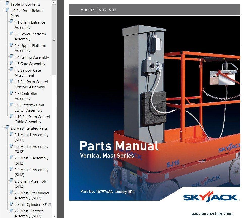 Skyjack Full 2012 Pdf Manuals