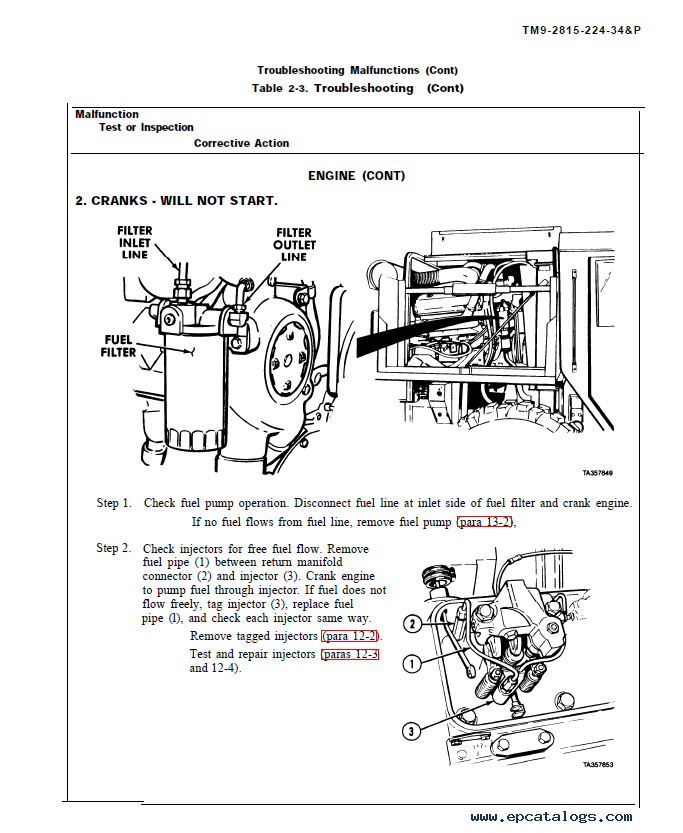 Detroit Diesel 8V92TA Engine Direct Support & General Support Maintenance  Manual PDF
