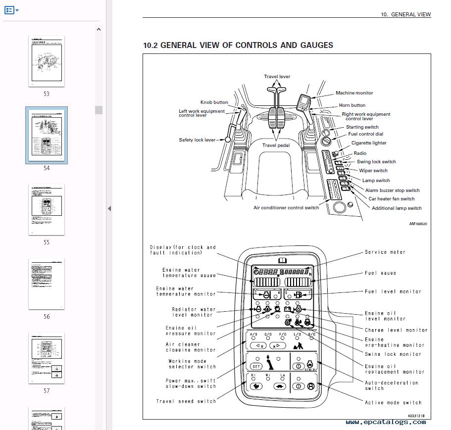 repair manual Komatsu Hydraulic Excavator PC120-6 Set of PDF Manuals - 4