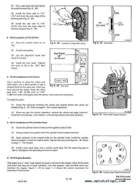Bobcat 310 313 Loaders Service Manual Pdf