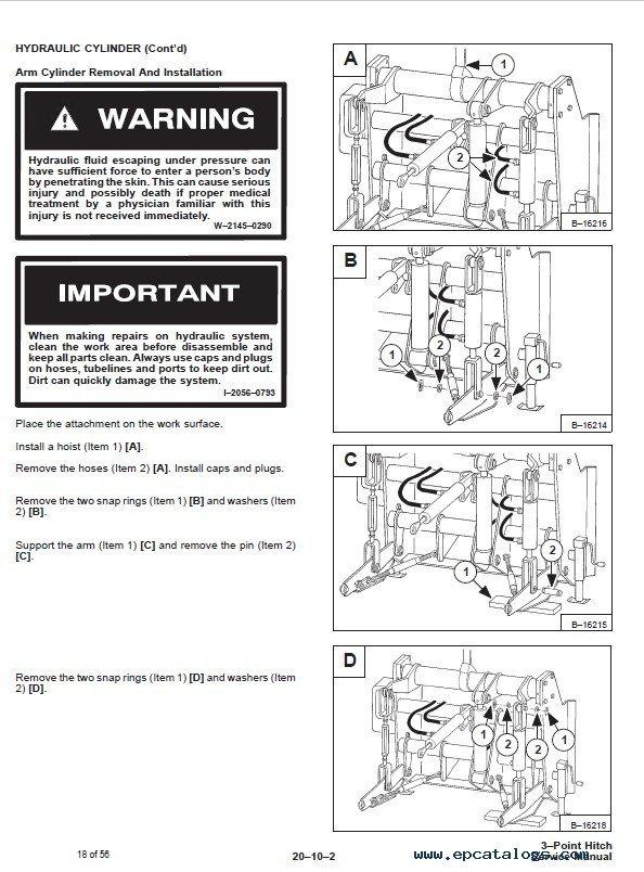 bobcat three point hitch service manual pdf