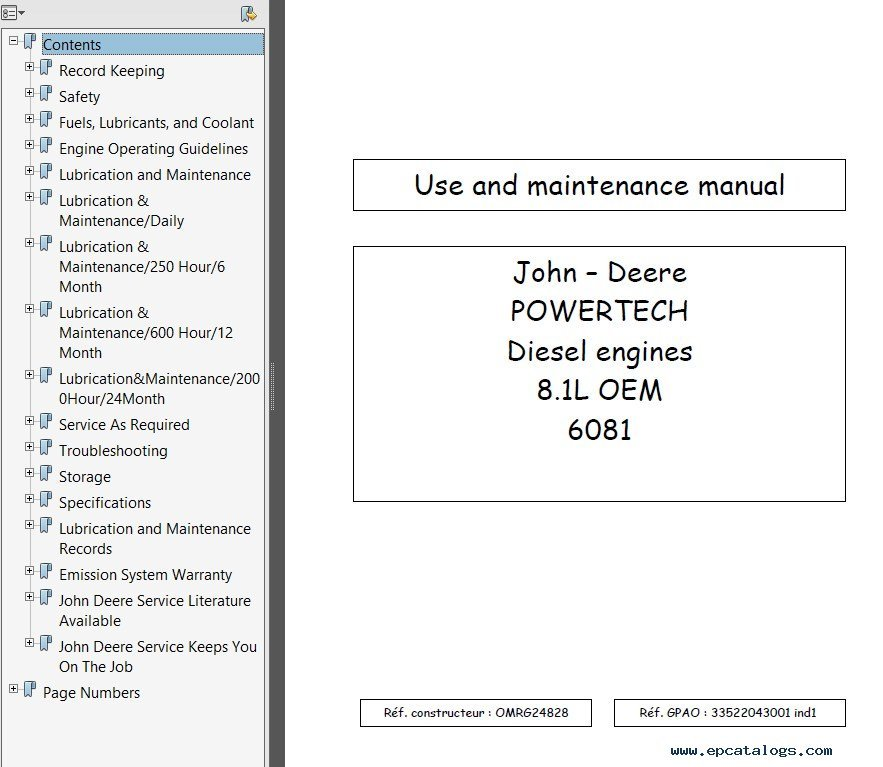 Diesel maintenance user manuals user manuals array john deere powertech 8 1l diesel engines set of pdf manuals rh epcatalogs com fandeluxe Images