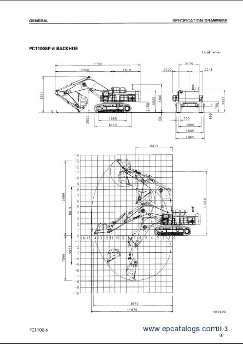 komatsu hydraulic excavator pc1100
