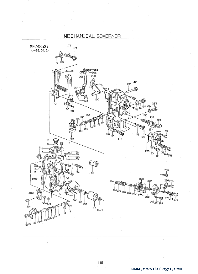Kobelco SK250(LC) SK250NLC Mark VI Hydraulic Excavators & Mitsubishi Engine  6D34-TLE1 Parts Manual P