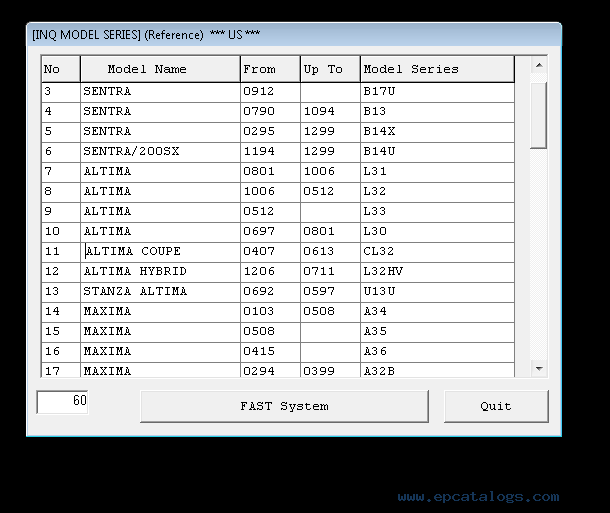 Array - nissan and infiniti parts catalog fast epc 2019 with archive models  rh   epcatalogs com