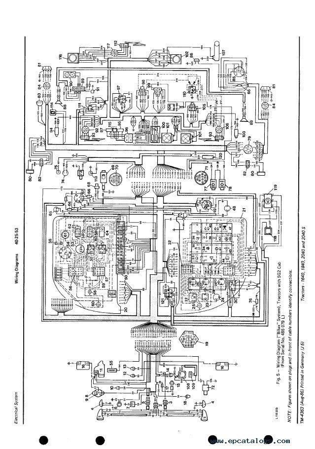 john deere 1640 1840 2040 2040s tractors tm4363 technical manual pdf john deere 2050 wiring diagram of 4640 john deere