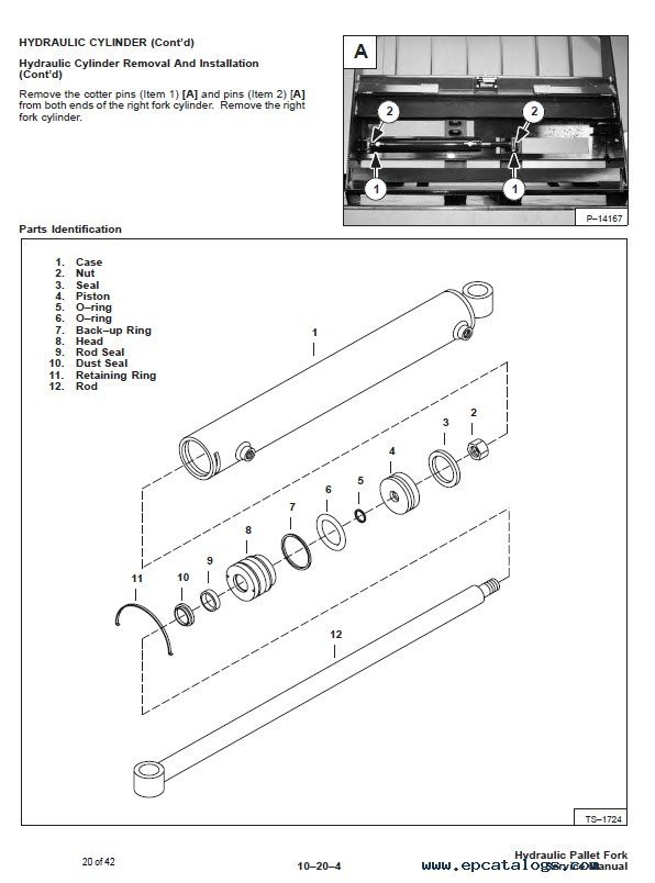 Bobcat 42 Inch  U0026 48 Inch Hydraulic Pallet Fork Service