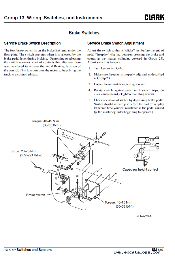 Clark Electric Forklift Wiring Diagram from www.epcatalogs.com