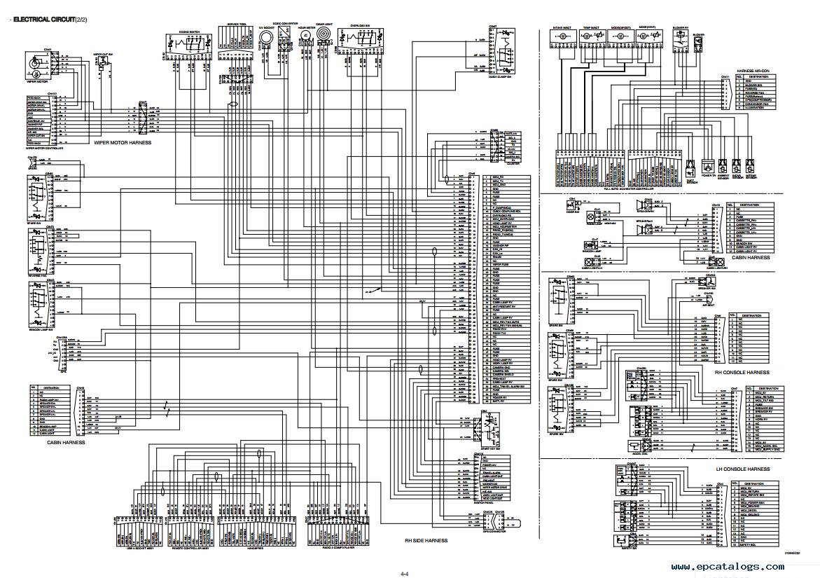 Wiring Diagram For Hyundai Excavator Page 3 And Accent Schematics 2003 Radio