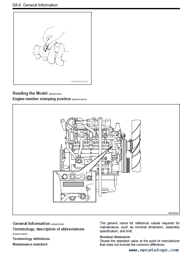 isuzu diesel engine 4le2 service manual pdf rh epcatalogs com 6.6 Duramax Engine Crank Sensor Location GMC Diesel Engine