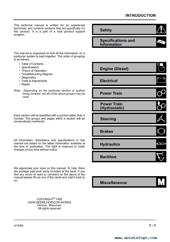deere 4475 5575 6675 7775 skid steer loaders tm1553 technical manual pdf repair manual