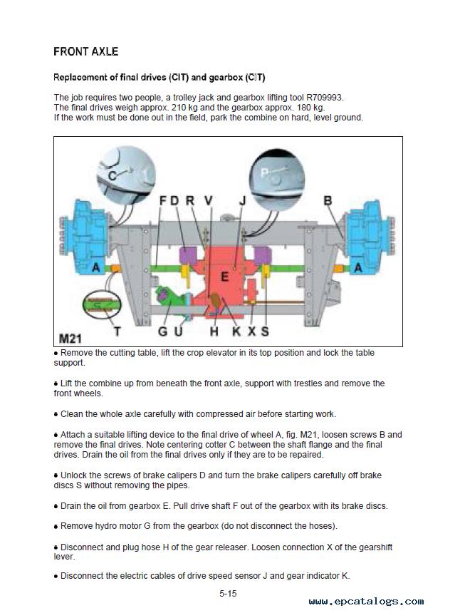 John Deere Combine W440 Technical Manual Tm5sr5145