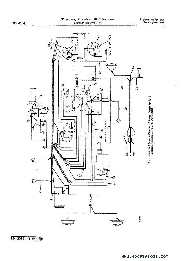 john deere 1010 wiring schematic john deere 1000 series crawler tractors service manual pdf  john deere 1000 series crawler tractors