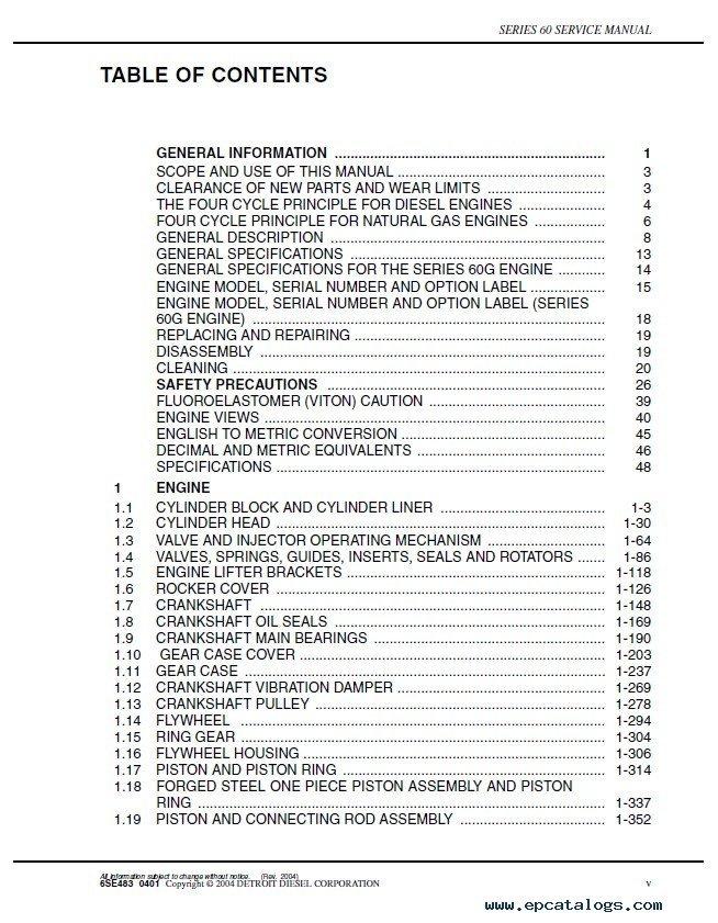detroit diesel series 60 diesel engines service manual pdf rh epcatalogs com detroit diesel service manual inline 71 detroit diesel service manual free download