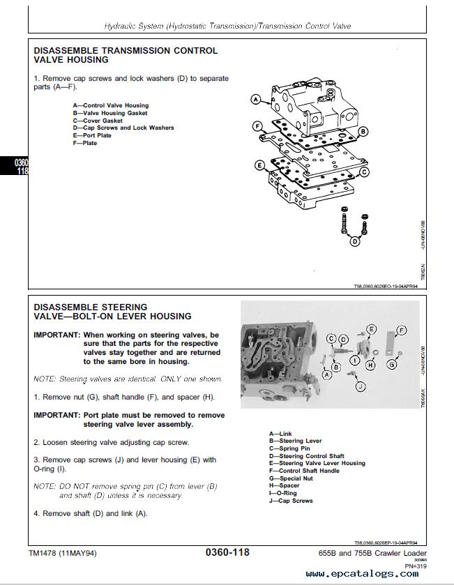 John Deere B B Crawler Loader Repair Tm Technical Manual Pdf