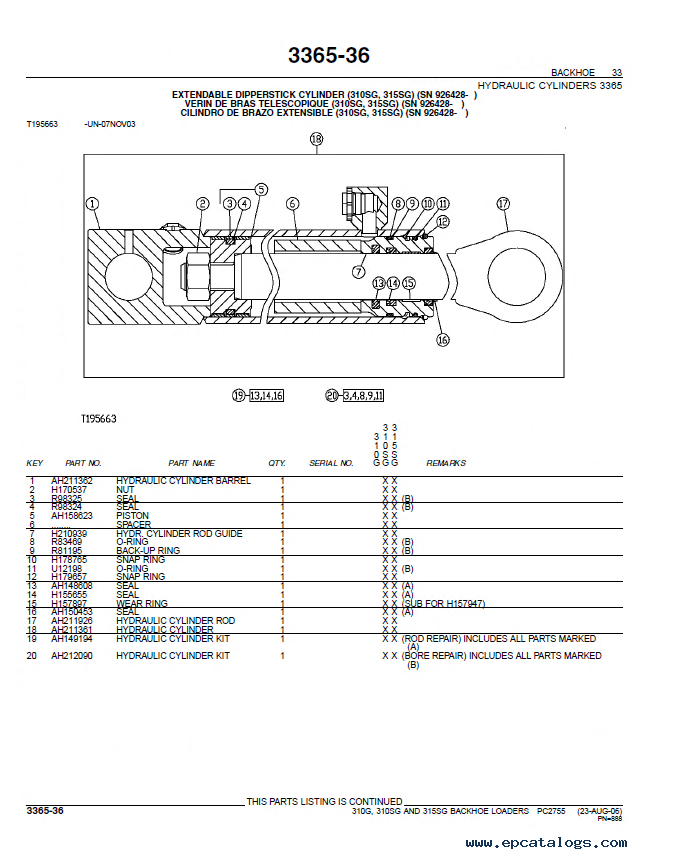 John Deere Parts Catalog >> John Deere 310g 310sg 315sg Backhoe Loaders Parts Catalog Pc2755 Pdf