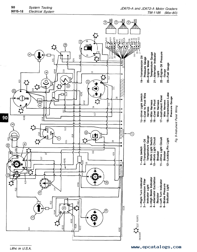 John Deere 670A, 672A Motor Grader Operation and Tests TM1188 PDF on blower motor wiring, fuel sender problems, fuel tank gauge, fuel gauge construction, ignition switch wiring, fuel pressure gauge, headlight switch wiring, fuel gauge mounting, fuel gauge assembly, speaker wiring, fuel gauge design, fuel sender wiring-diagram, alternator wiring, fuel gauge coils, fuel level gauge, 4 pin hei module wiring, relay wiring, distributor wiring, roof rack wiring, fuel gauge lens,