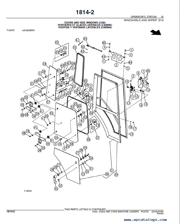 john deere 310g 310  315sg loaders parts catalog pc2755 John Deere Trailer Parts john deere 310g wiring diagram