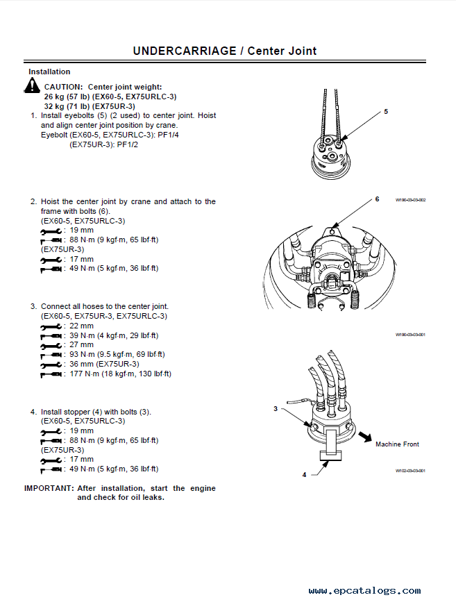 hitachi ex60 5 75ur 3 75urlc 3 workshop manuals pdf download rh epcatalogs com Hitachi EX60 Specifications Hitachi EX60 Lifting Concrete Blocks