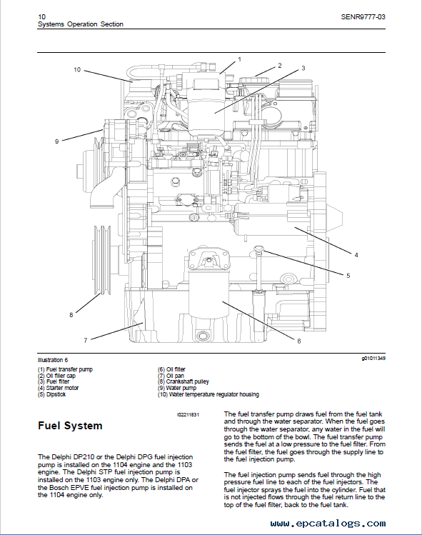 Download Perkins Engines 1103 1104c Testing Adjusting Manual Pdf