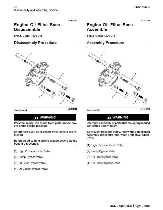 Caterpillar C C On Highway Engines Disassembly Assembly Manual Pdf