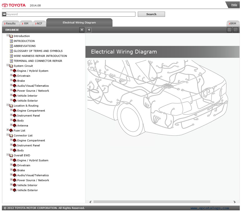 Toyota Innova Cars Service Information   Diagram