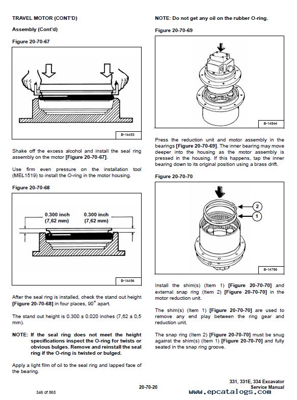 Bobcat 331 331e 334 Excavator D Series Service Manual Pdf