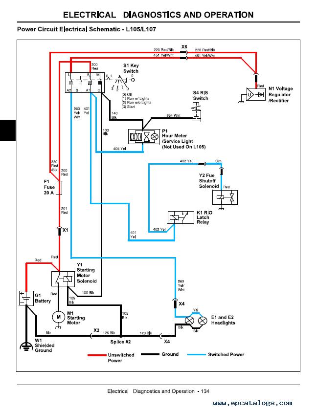 repair manual john deere l120Wiring Diagram Further John Deere L100 Wiring Diagram Besides John #14
