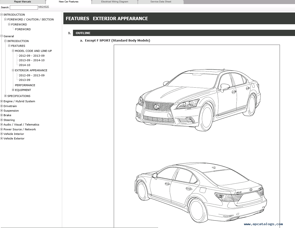Lexus Ls460 Repair Manual 09 2012  08 2015 Download