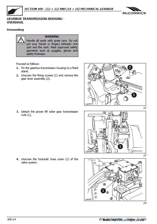 Mccormick Gx40 Gx45 Gx50 Tractors Repair Manual Pdf