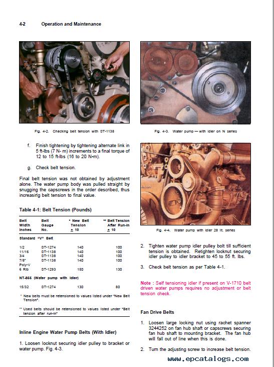 Cummins Engine Nt855 Series Operation Manual