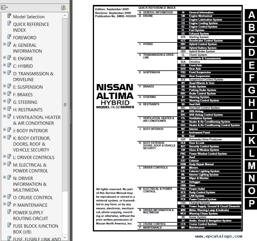 nissan altima model l32 hybrid hl32 series 2010 pdf rh epcatalogs com 2010 nissan altima factory service manual 2010 nissan altima owners manual download