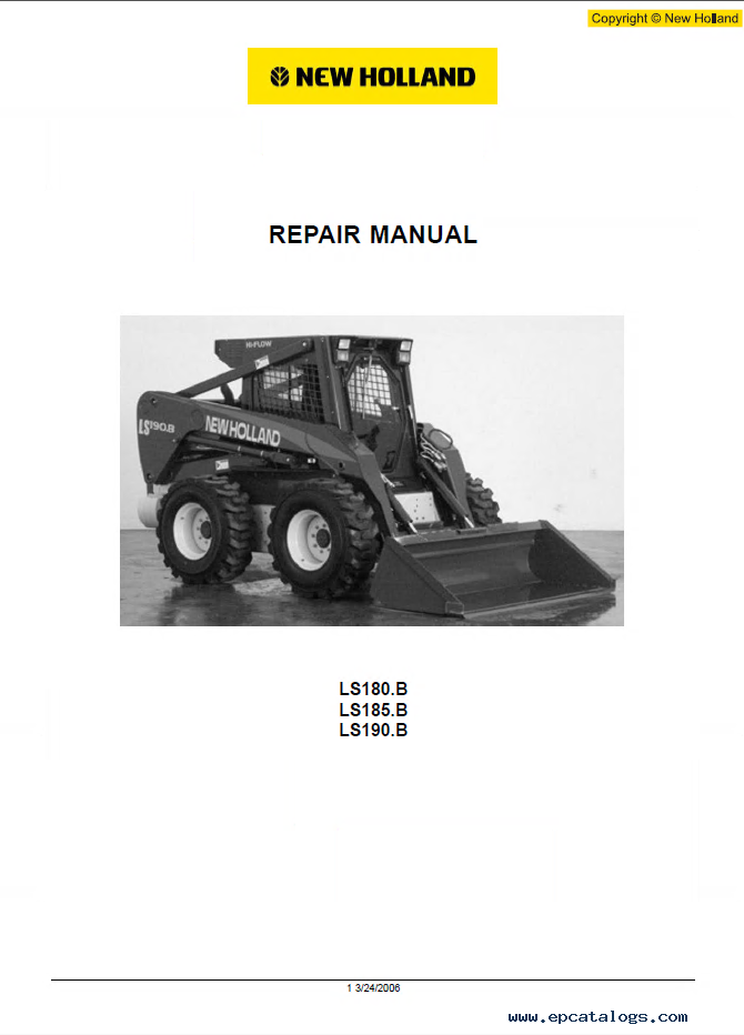 new holland ls180b ls185b ls190b workshop manual pdf rh epcatalogs com New Holland 565 Specs New Holland LS190.B