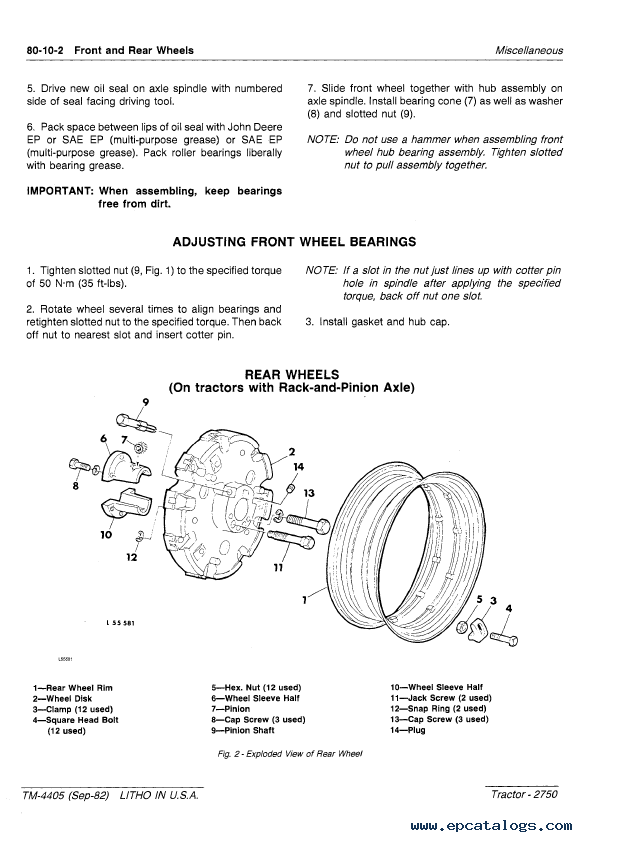 Repair Manual John Deere 2750 Tractor Tm4405 Technical Pdf 6: 2750 John Deere Alternator Wiring Diagram At Mazhai.net
