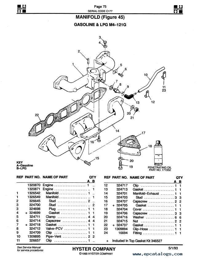 Hyster Challenger H40 50 60xl H2 00 2 50 3 00xl Parts Manuals Pdf