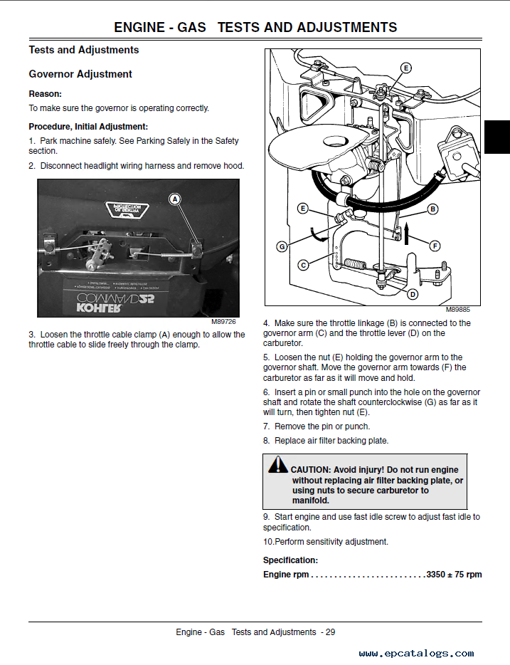 john deere lawn tractor g tm technical manual pdf repair enlarge