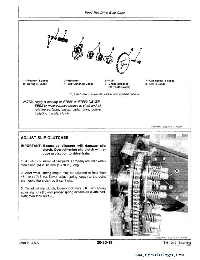 John Deere 4720 Forage Harvester Technical Manual Pdf
