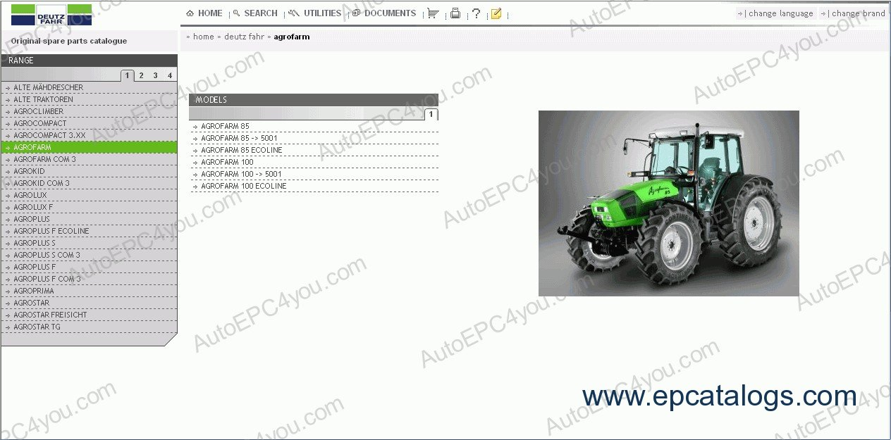 repair manual Deutz-Fahr SDF e-Parts 2012 - 1
