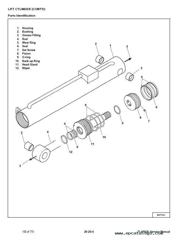 Bobcat Tl470 X  Telescopic Handler Service Manual Pdf