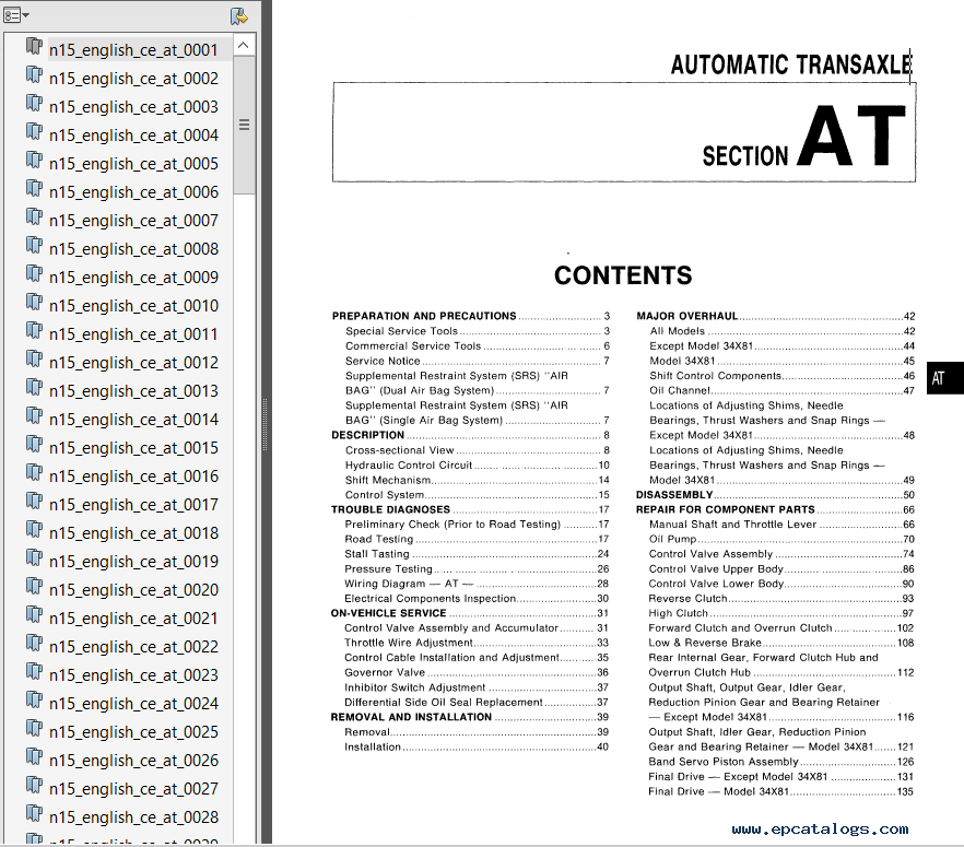 nissan almera n15 series 1995 2000 service manual pdf rh epcatalogs com