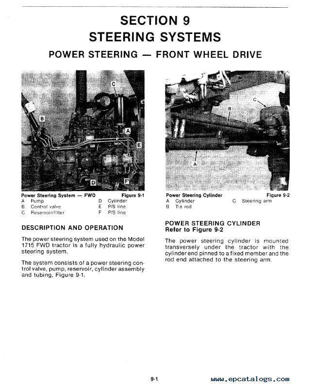 New Holland Ford 1715 Tractor Service Manual Download