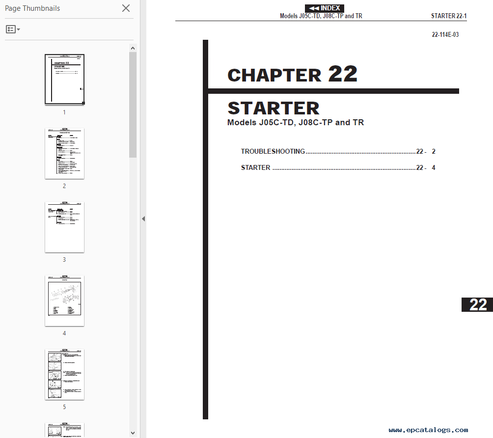 repair manual Hino Engine FD.FE.FF.SG 2001 Workshop Manual PDF -