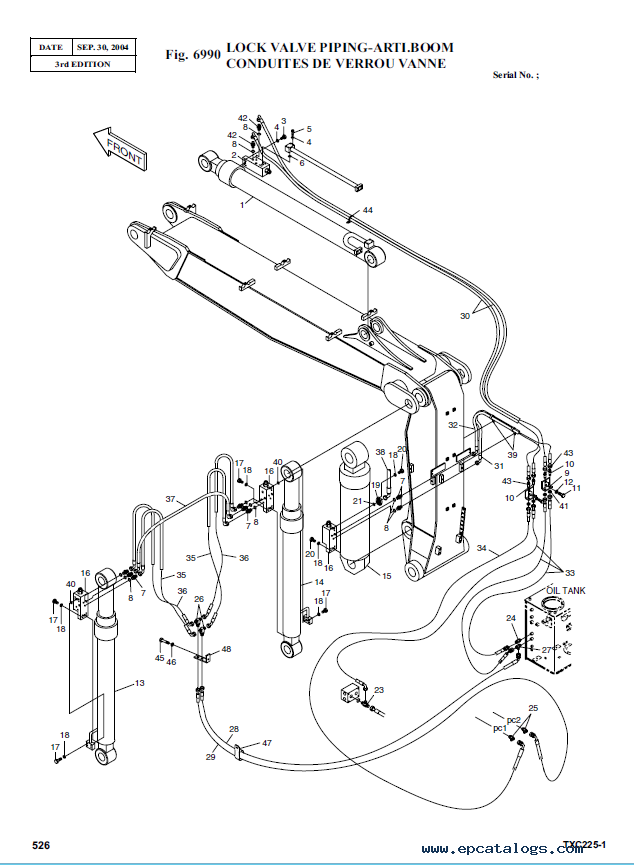 Terex Tx 225lc 1 Hydraulic Excavator Parts Manual Pdf