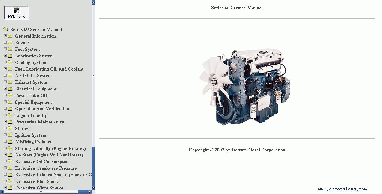 detroit diesel 60 series service manual repair manual. Black Bedroom Furniture Sets. Home Design Ideas