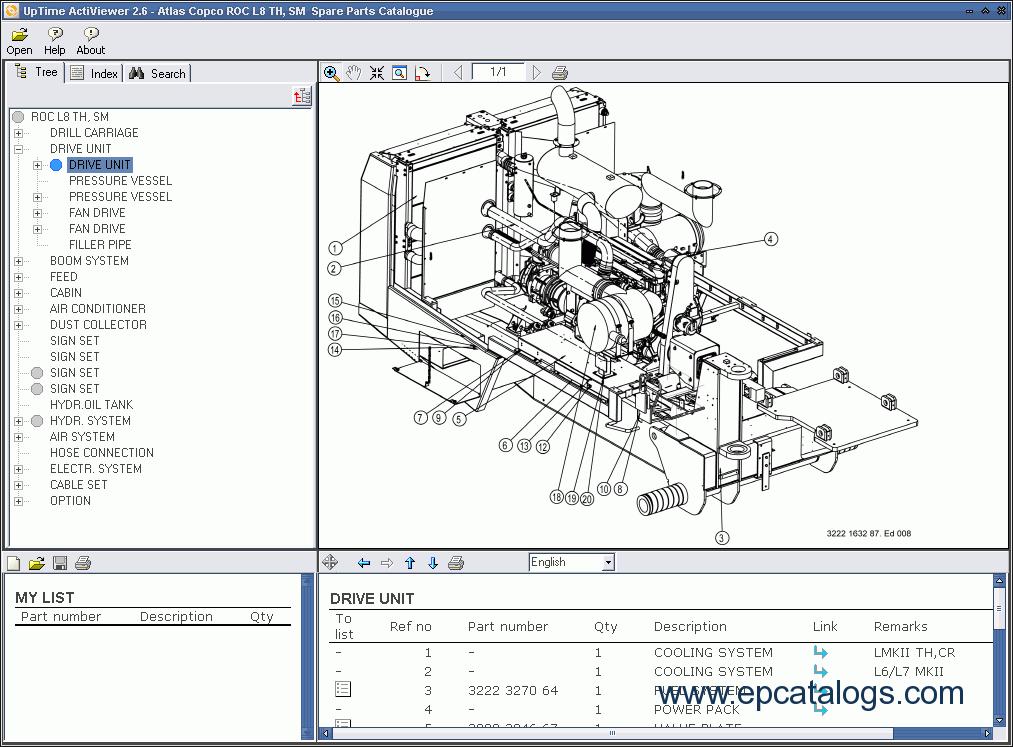 atlas copco rock drills roc l8 drill rh epcatalogs com atlas copco parts catalog atlas copco lt 6005 parts manual